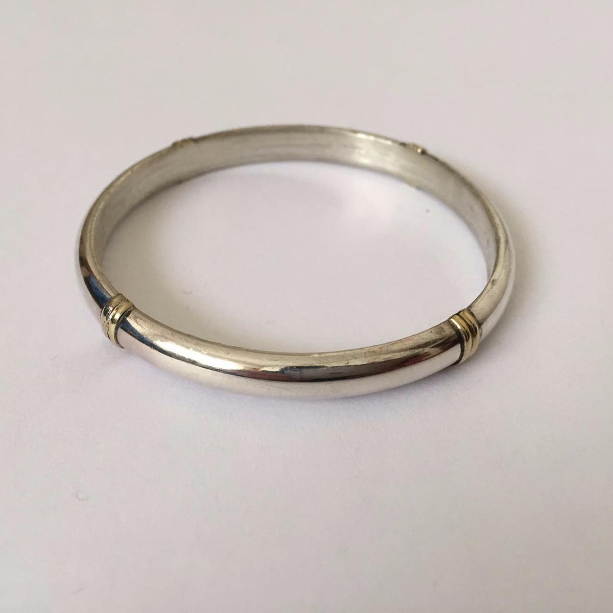 c8cf6c237cd1 esclava de plata 925 media caña hueca con oro 7mm   geh7co. Cargando zoom.