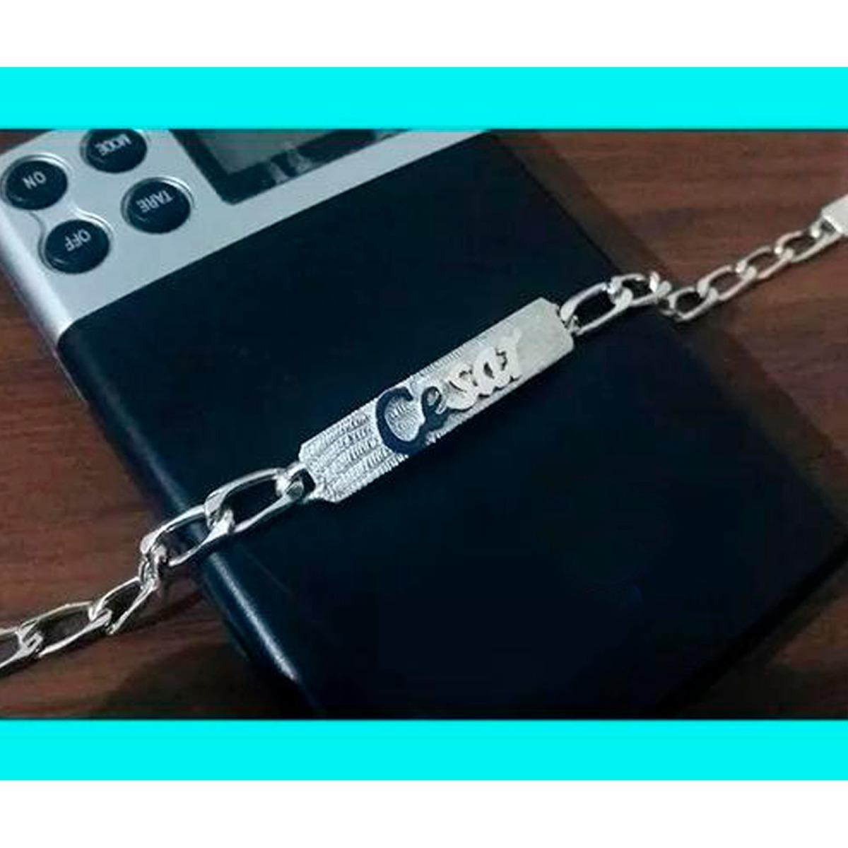 3ebab02179c5 Esclava De Plata Con Tu Nombre Envío Gratis -   781.00 en Mercado Libre