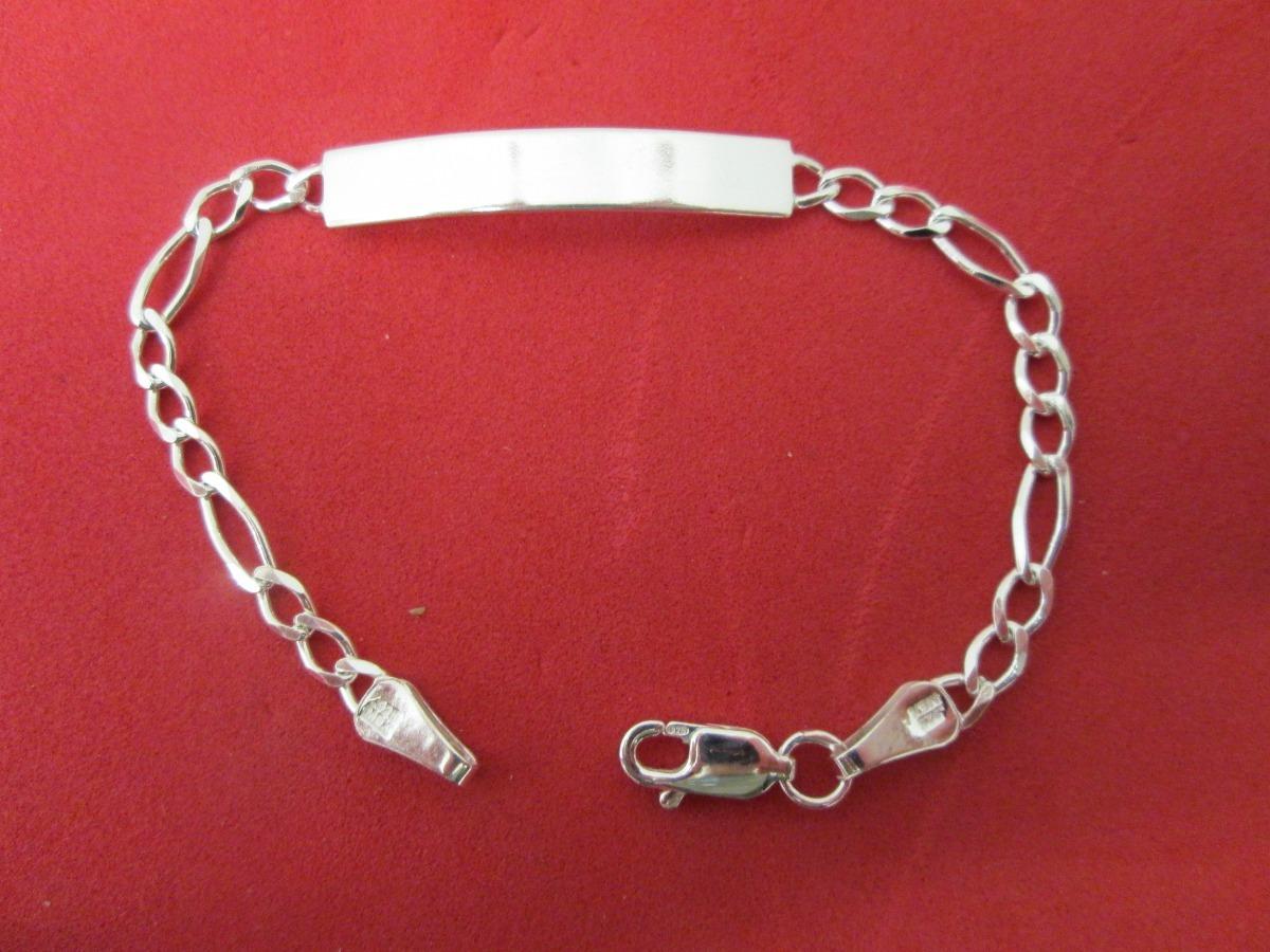 0d3d14e3a65d Esclava Fìgaro Plata Fina .925 Unisex 19 Cm. -   400.00 en Mercado Libre