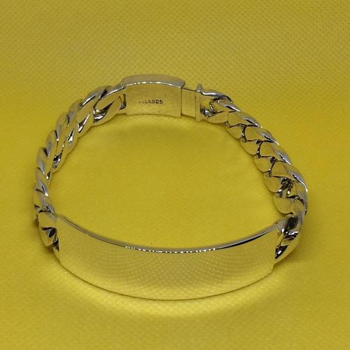 esclava gruesa plata 925 estilo cubano 65gr23.5cmx1.2cm eg16