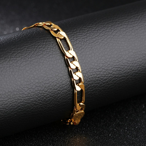 esclava hombre oro laminado 18k pulsera regalo novio amor
