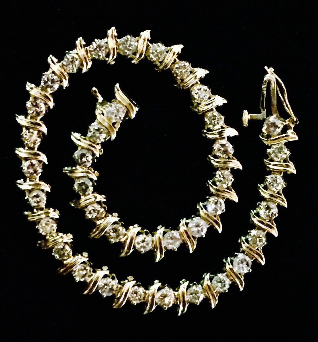 22adf8bbaf0c Esclava Oro 14k Con Diamantes