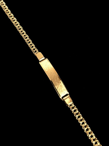 esclava oro 18k para bebés. tejido chino. grabacion 2.5g