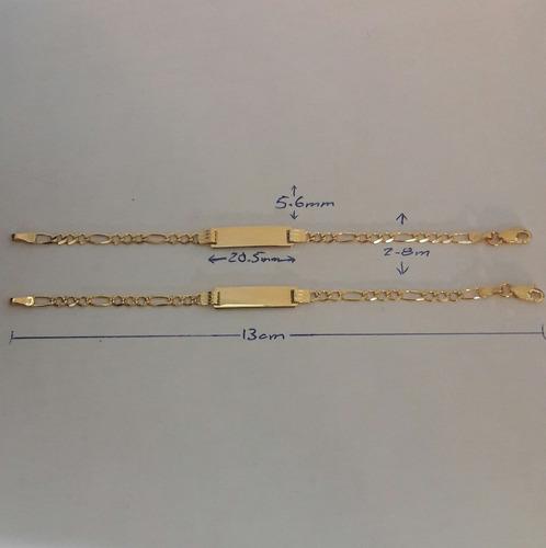 esclava oro macizo 10kt  15cm para niño o niña 0 a 5 años