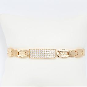 ad61507866c7 Esclava Para Mujer De Oro Lamin 18k Con Diamantes