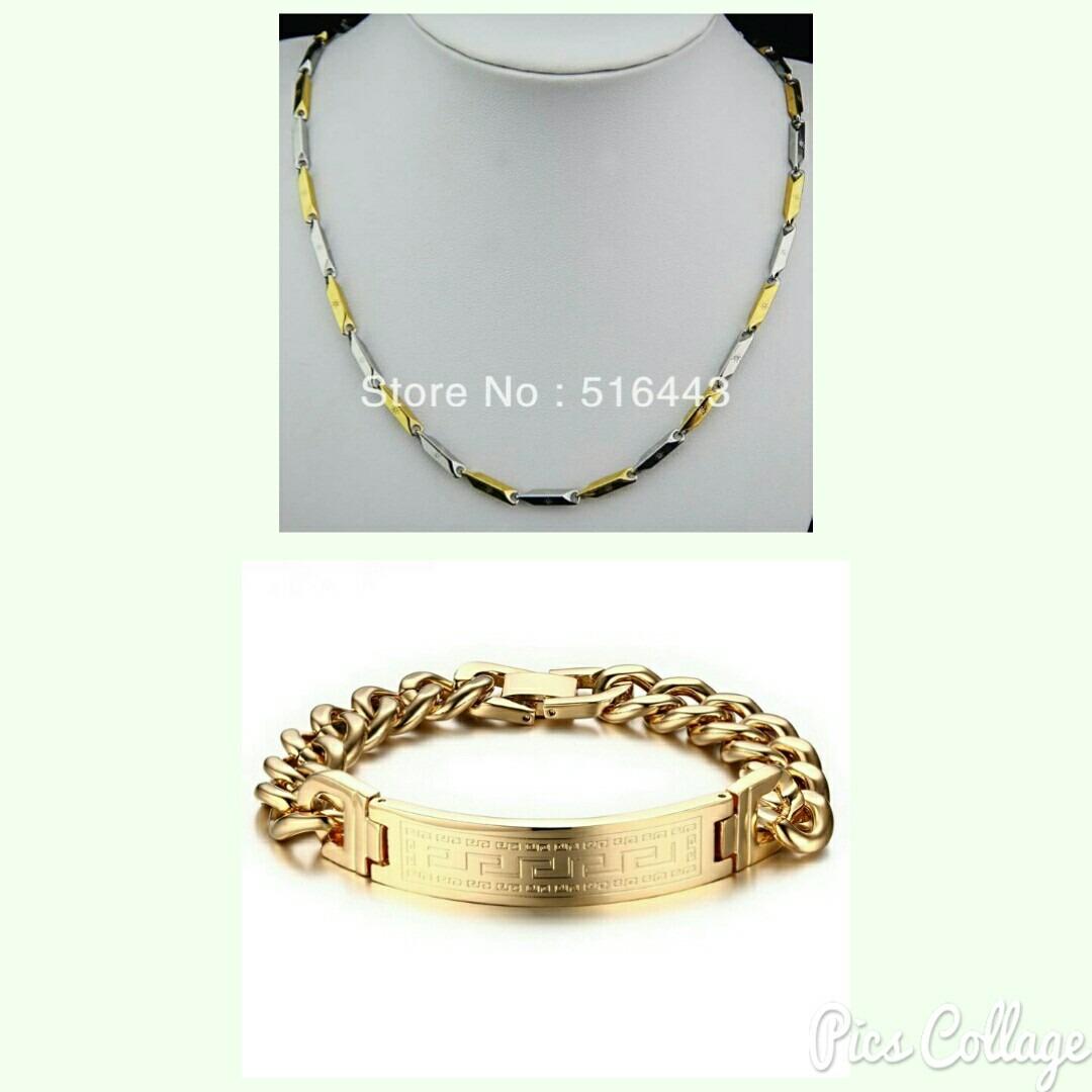 d2a0a3fcbe0a Esclava Y Collar De Oro Lam. Para Caballero Envio Gratis. -   699.00 ...