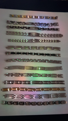 esclavas acero inoxidable bellas pulseras para caballero