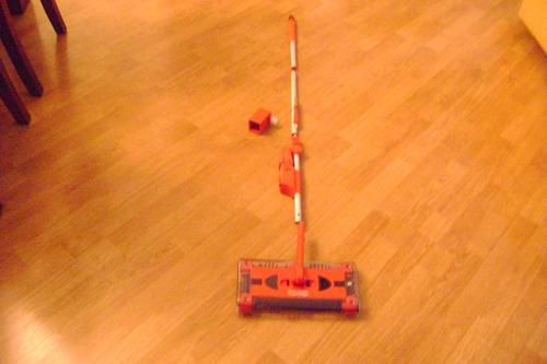 escoba   barredora eléctrica, a batería swivel  sweeper g3