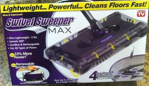 escoba barredora eléctrica, a batería swivel sweeper max