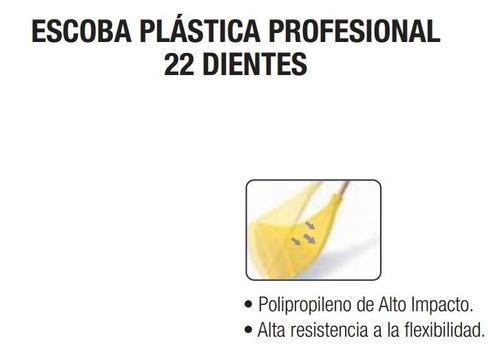escoba plástica profesional flexible 22 dientes 132050  vv4