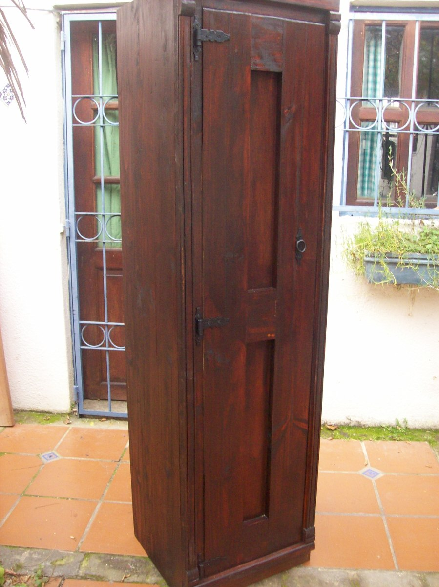 Escobero panelero madera maciza rustico en for Muebles madera maciza uruguay
