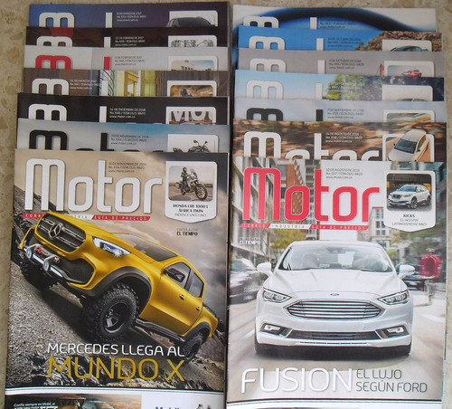 escoga un numero de la revista motor