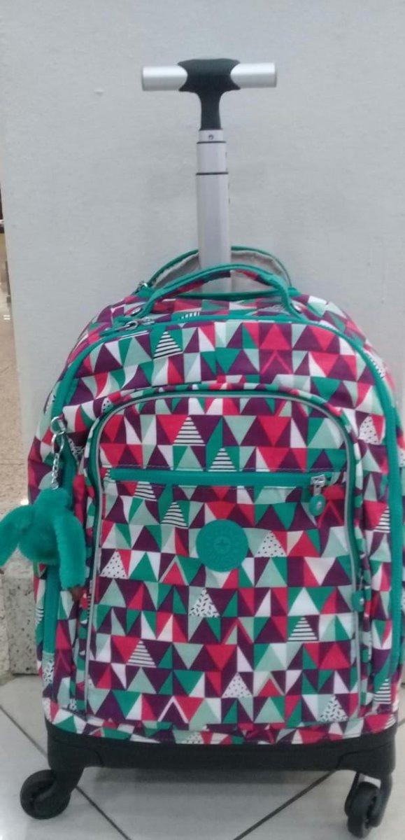 c39d8b1b8 Mochila De Rodinhas Escolar Viagem Kipling Vibrant Deco - R$ 1.484 ...