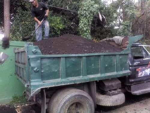 escombros bote tierra transportes flete d materiales objetos