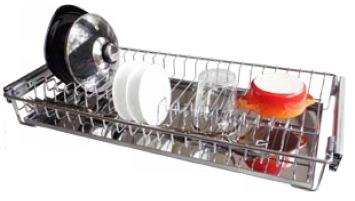 escorredor de enbutir cromado c/ bandeja inox