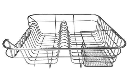 escorredor de louças 12 pratos cesta p/ talheres
