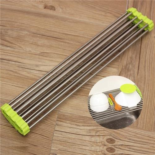 escorredor de utensílios prato e alimentos flexível silicone