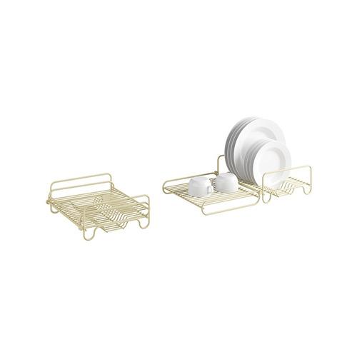 escorredor horizontal articulado para 16 pratos marfim