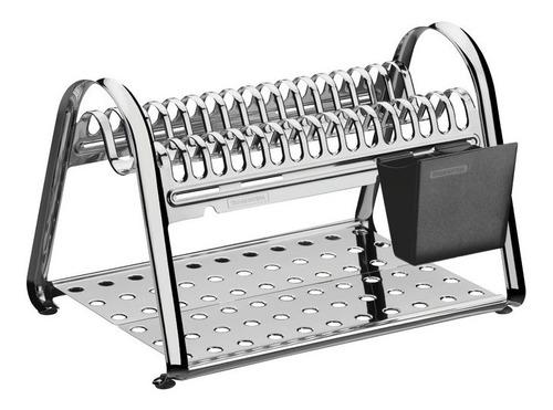 escorredor louça aço inox ciclo 16 pratos 6153010 tramontina