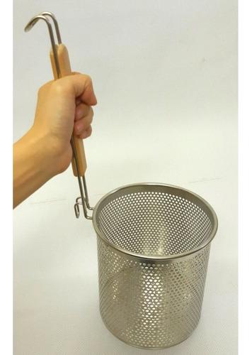escorredor para macarrão, aço