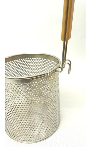 escorredor tela para lamen, macarrão, massa aço inox 13,5cm