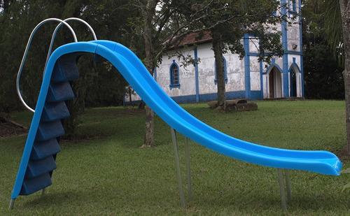 escorregador de fibra reto grande 4,00x2,00 para piscina