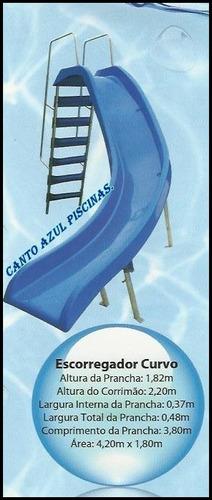 escorregador p/ piscina em fibra-mod. curvo (xx11) 4415-1661