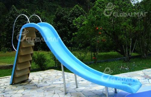 escorregador reto de fibra piscina toboágua fantástico