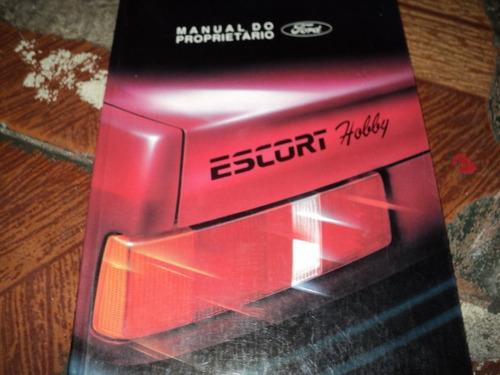 escort hobby ford ed.01/1994 manual