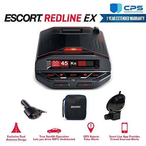 Escort Redline Ex Radar Detector 0100030-1 With Bluetooth, G