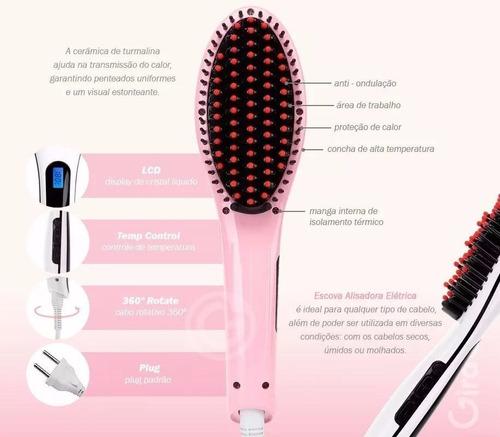 escova alisadora chapinha elétrica 230°c magic hair lcd