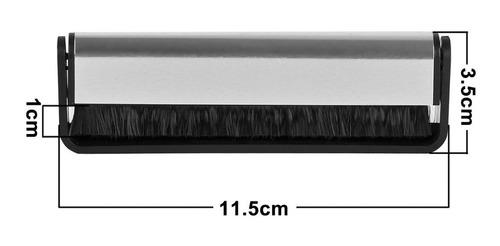 escova anti estática de fibra carbono opula limpeza lp vinil
