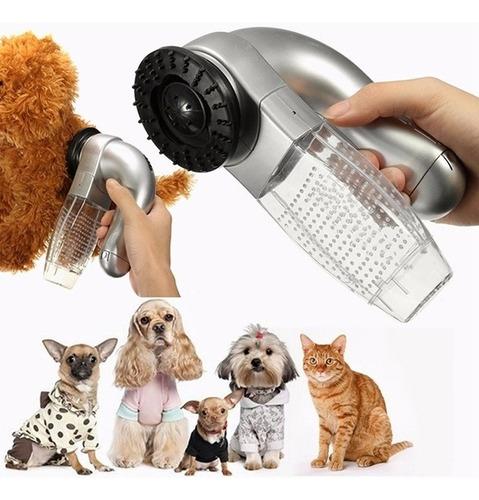 escova aspirador suga tira pelo pet cachorro gato 2 em 1