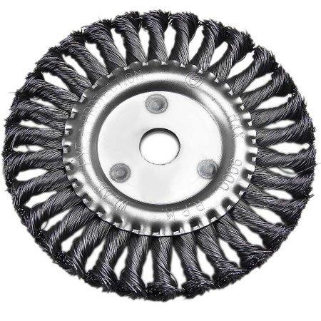 escova de aço trançada para moto esmeril 150mm j767 black ja