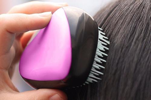 escova de cabelo portátil de bolsa desembaraçadora p/ viagem
