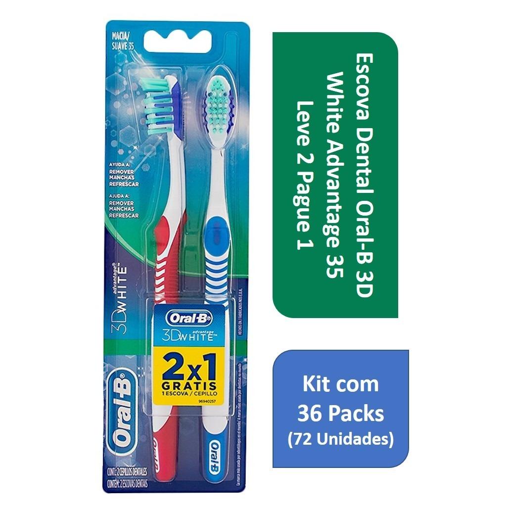 4e34ae86b escova dental oral-b 3d white advan 35 no atacado c 36 packs. Carregando  zoom.