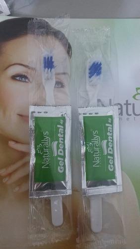 escova dente descartável + creme dental sache 4 g cx 500 und