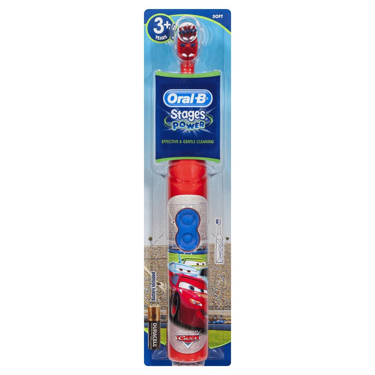 Escova Elétrica Infantil Disney Cars Oral B Stages Power - R  60 531c1f554ff4