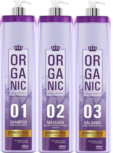 escova organica mundo organico reduce 0%formol liso forte