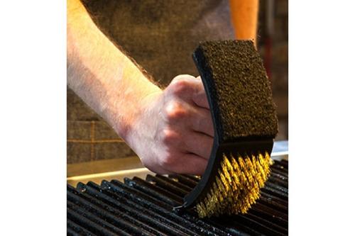 escova para grelha e churrasqueira com cerdas de cobre prana