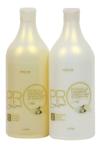 escova progressiva proline perola 2x1000ml