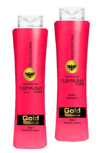 escova progressiva turmalina rosa - goldshow