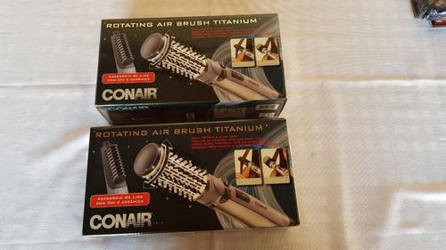 escova rotativa air brush titanium conair 110v