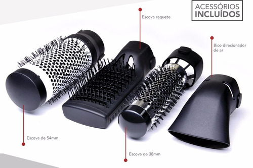 escova rotativa turbo ion 3000 modeladora gama italy 1300w