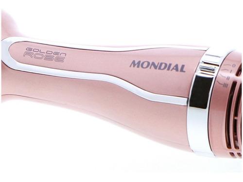escova secadora mondial alisadora seca modela gold rose es02