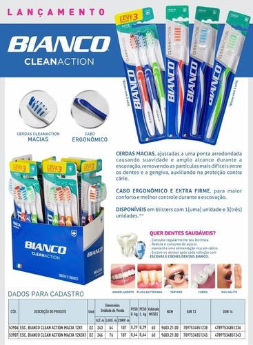 escovas de dente - remove placa bacteriana -  pague 2 leve 3