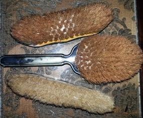 escovas para penteadeira, sec xix, metal prateado e crina