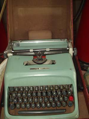 escrever olivetti maquina