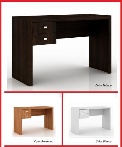 escritorio 2 cajones mesa pc hogar u oficina moderno punion