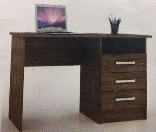 escritorio 3 cajones castaño o blanco multiofertas